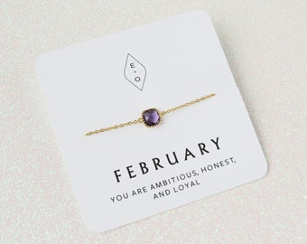 Gold Personalized Birthstone Bracelet | Gold Birthstone Bracelet | Birthstone Jewelry | Birthday Gift | Bridesmaids Gift | Gift for Her