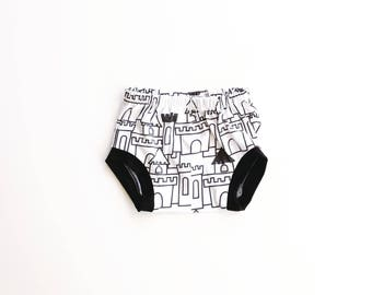fortress bloomies AND shorties / diaper cover / baby shorts / toddler shorts / newborn to 3T / castle bloomers / modern baby clothes