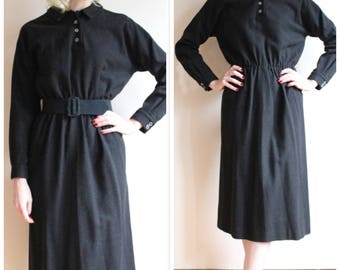 1950s Dress // Jonathan Logan Wool Dress // vintage 50s dress