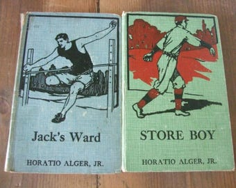Horatio Alger Jr. Book Set - Jack's Ward & Store Boy