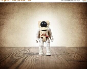 WEEKEND SALE Vintage Astronaut figure One Photo Print, Boys Room decor, Vintage Space Art, Space Theme Prints,