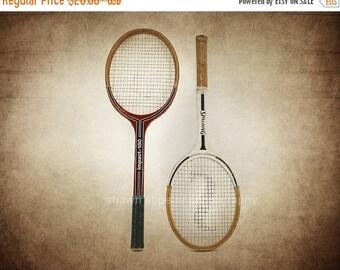 FLASH SALE til MIDNIGHT Vintage Tennis Rackets Photo Print, Decorating Ideas, Wall Decor, Wall Art, Game Room, Kids Room, Nursery Ideas, Gif