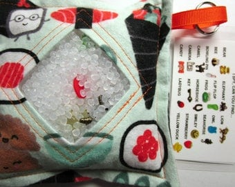 I Spy Bag, Sushi, Neutral, eye spy, busy bag, seek and find toy game, gift, sensory occupational therapy, travel toy, fidget stimming