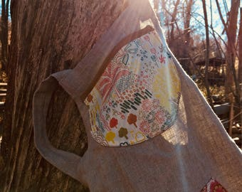 Child's linen apron with Liberty patchwork