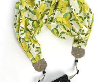 scarf camera strap lemon sorbet - BCSCS100
