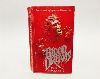 Vintage Horror Book Blood Dreams by Jack Maclane 1989 Paperback