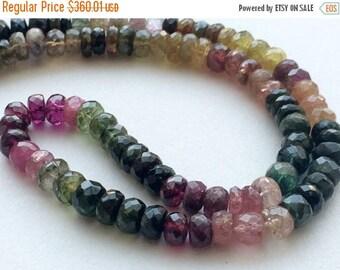 ON SALE 55% Multi Tourmaline Beads - Multi Tourmaline Faceted Rondelle Beads, 6.5mm To 7.5mm Tourmaline Beads, 8 Inch Strand