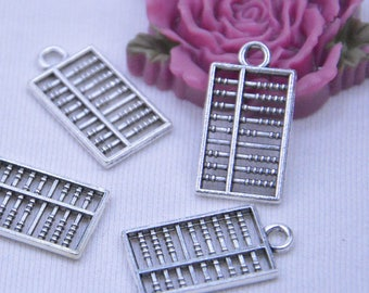 16 abacuses, abacus pendant, antique silver abacus pendant, abacus charm, alloy abacus necklace, Jewelry abacus drops 13x24mm