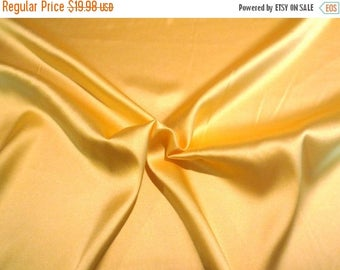 ON SALE Sunny Yellow Stretch Silk Charmeuse Fabric--One Yard