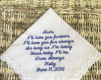 Classic Embroidered Wedding Handkerchief