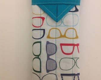 "Snap Eyeglasses Case Handmade 3"" x 6-1/4"""