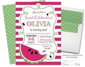 Watermelon Party Invitation, Watermelon Birthday Invitation, Watermelon Invitation, Watermelon Invite, Summer Birthday Invite, Summer Party