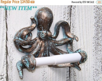 ON SALE Octopus~Toilet Paper Holder~Octopus Toilet Paper Holder~Octopus Decor~Beach~Nautical