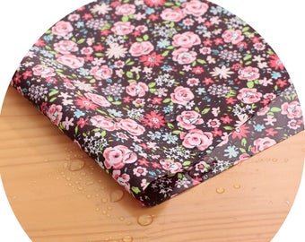 Wide Dual Waterproof Polyester Fabric By the yard  'Small Flowers ' (width 59 inches) 90337