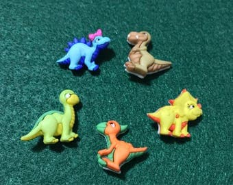 Baby Dino Pets Plastic Buttons / Sewing Supplies/DIY Craft supplies /Novelty Buttons/ Kids Craft Supplies