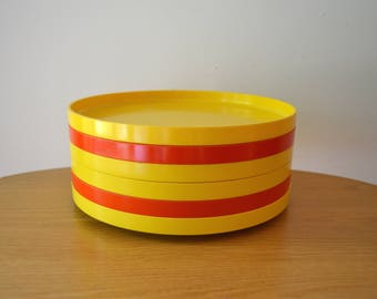 Massimo Vignelli Heller Yellow and Orange Plates