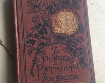 VINTAGE Kit Carson by John S.C. Abbott - Pioneers and Patriots of America - Rate Antique Book
