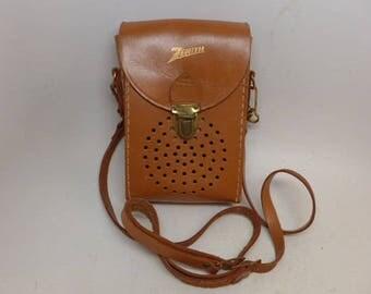 Vintage Leather Transistor Radio Case - Leather Case - Radio Case - Zenith - Leather Purse