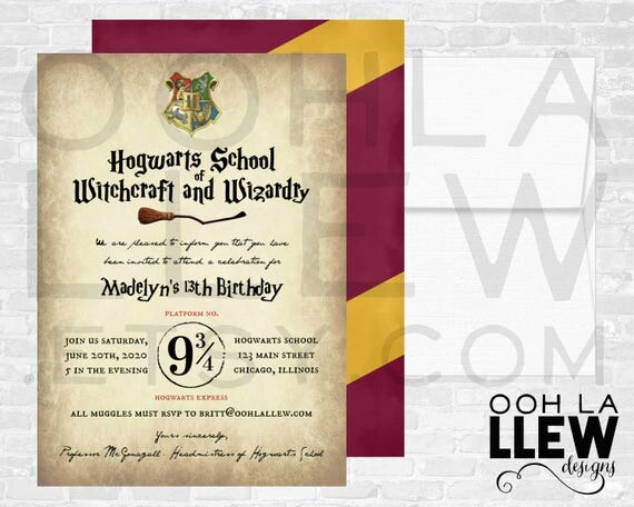 like this item - Harry Potter Party Invitations