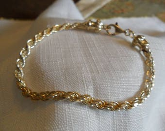 Vintage Sterling Silver Chain Bracelet