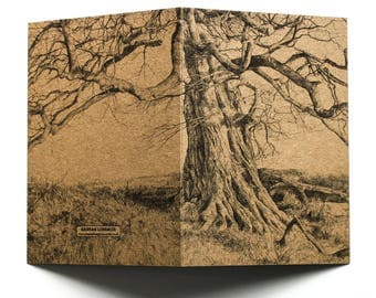 Under This Old Tree - wraparound kraft card