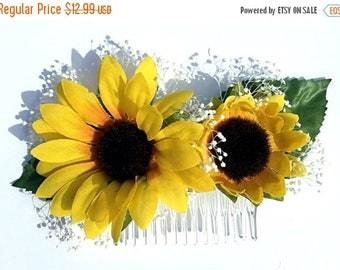 Sunflower Hair Clip, Sunflower Hair Comb, Sunflower Bridal Clip, Sunflower Bridal Comb, Sunflower Wedding, Sunflower Hair Piece, Sunflower