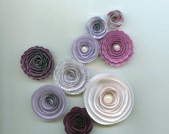 Crazy about Purple Handmade Paper Flower Mix