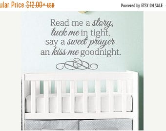 20% OFF Read me a story  tuck me in tight -Vinyl Lettering wall words graphics Home decor itswritteninvinyl