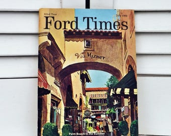 Ford Times magazine 1969, Ford memorabilia Shelby GT, Maverick, Amphicat, Ford Travel booklet, Vintage USA Travel and Famous Recipes