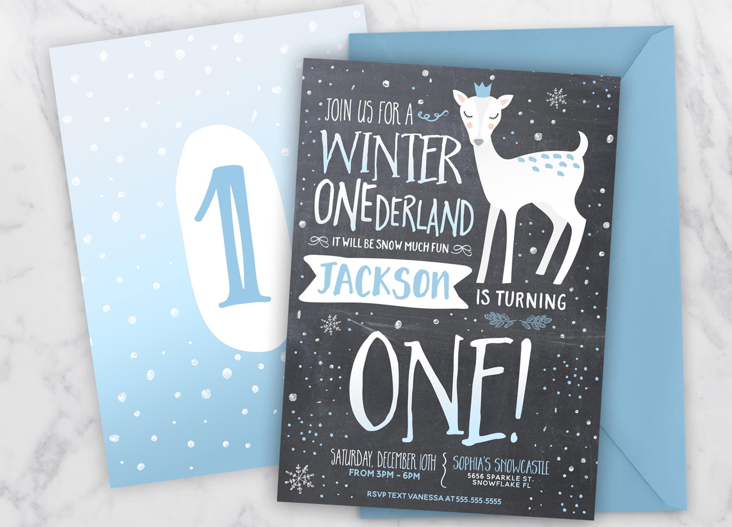 Boy Winter Onederland Invitation, Boy Onederland Birthday ...