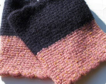 Boot cuffs boot socks pink blue wool boot cuff woolen boot toopers wool boot socks blue pink wool leg warmers legwarmers