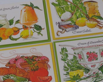 Vintage Greeting Cards -Linda K Powell - Current Gourmet Recipe Notes