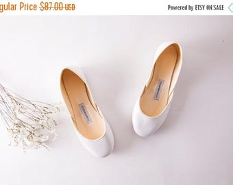 The Audrey Wedding Ballet Flats | Wedding Shoes | Flat Shoes for Brides | The Bridal Shoes in White