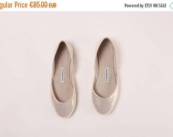 Summer Sale Handmade Leather Ballet Flats | Gold Mirrors | Ballet Flats | Last two Pairs, 38 and 40 | Ready to Ship