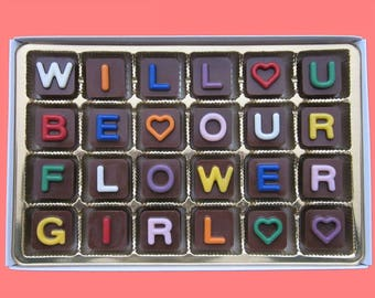 Personalized Flower Girl Gift Idea Wedding Thank You Will You Be Our My Flower Girl Gift Proposal FlowerGirl Wedding Gift Ideas Cute Candy