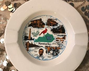 Vintage Ashtray. Kentucky Ashtray. Kentucky Souvenir. Ashtray
