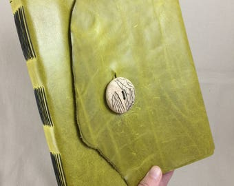 Large Leather Sketchbook, Ready to Ship