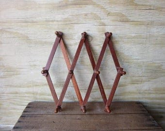 Vintage Accordian Peg Rack