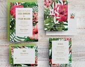 Tropical Wedding Invitation, Hawaii Wedding Invite, Beach Wedding, Maui Wedding, Destination Wedding, Fiji Wedding, Island Wedding