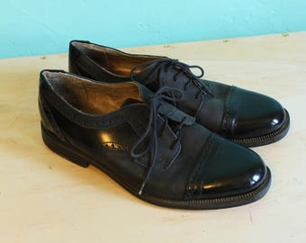Vintage Men's Two tone Leather Lace up Brogues by Salita - Size 44