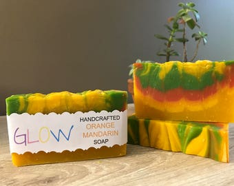 Glow Couture Orange Mandarin Handcrafted Soap