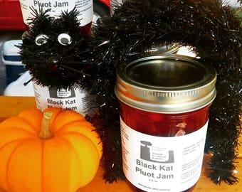 Black Cat Pluot Jam 8 oz. Black Cat Lover Gift! Pluots are a cross of plums & apricots