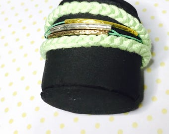 Multi strand boho Bracelet, Mint color, Item No. L002
