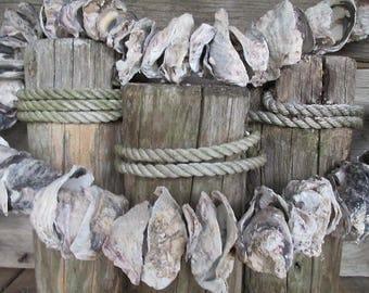 Oyster Shell Garland, Nautical Decor