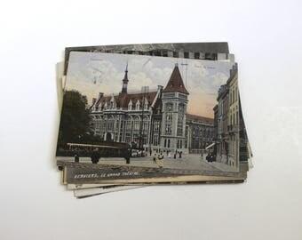 SALE 18 Vintage Belgium Postcards Used