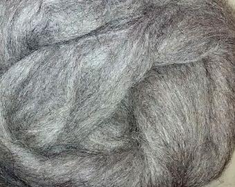 Alpaca Roving (Top) - mid grey