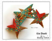 Geometric Peyote Stitch Beaded Wings Spacer Beads Beading Patterns Instructions Warped Squares Delica Seed Bead DIY Jewelery Tutorials KITE
