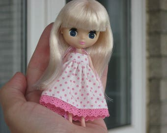 RESERVED Petite Blythe Doll with handmade Dress