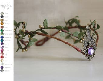 Woodland crown- elven tiara- fairy crown - elf crown