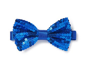 Men's Sequin Bow Tie - Royal Blue